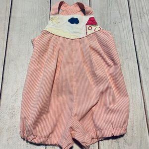 Unique Pink Vintage Romper